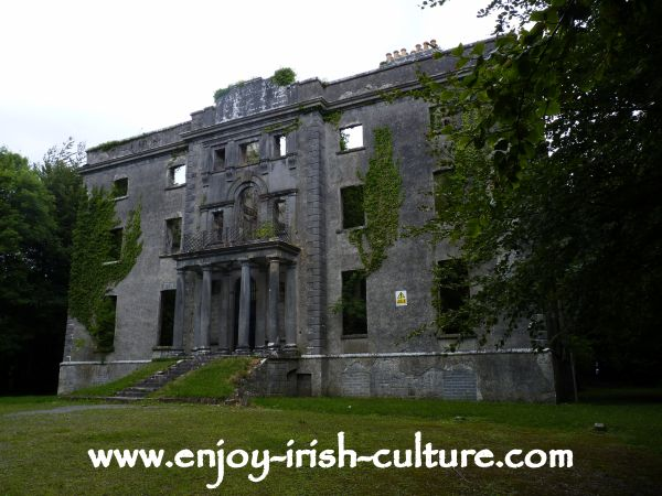 Moore Hall in County Mayo, Ireland, the magnificent ruin of a big house which has a special place in Irish history.