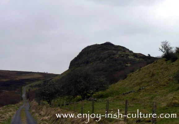 The walk up to Carrowkeel megalithic tombs in County Sligo, Ireland.