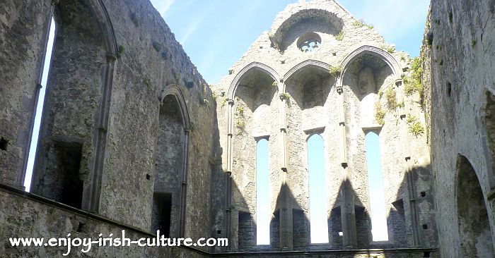 The Cashel Rock- the archbishops secret passage way is still visible along the walls of the Cathedral.