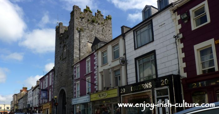 The town of Cashel, County Tipperary, Ireland.