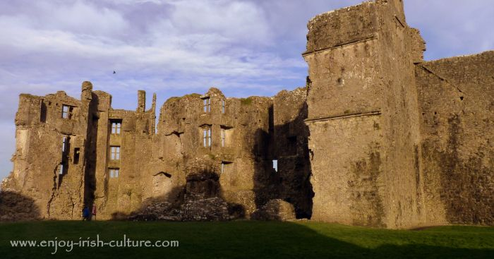 The manor house extension by Sir Malby at the castle at Roscommon, Ireland.
