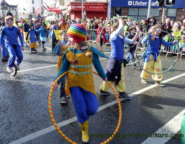 St Paddy's Day in Galway, hoola hoops