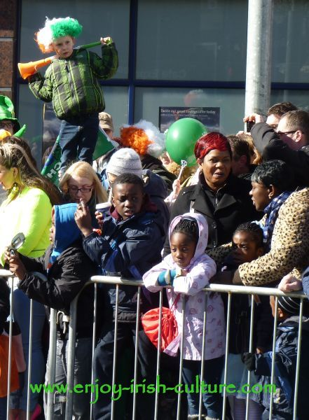 St Paddy's Day in Galway, the crowd