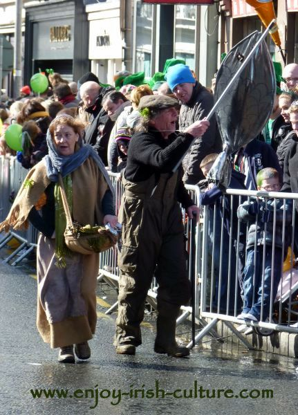St Paddy's Day in Galway, Macnas street performers
