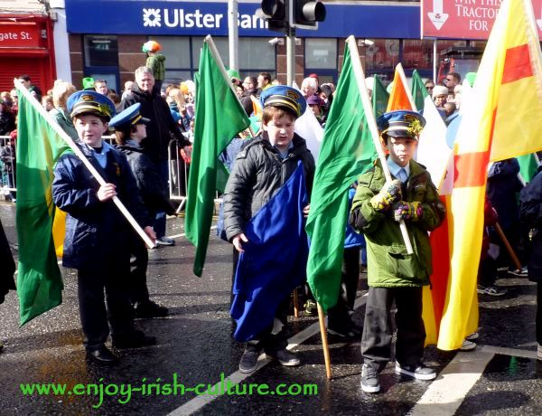 St Paddy's Day in Galway, kids
