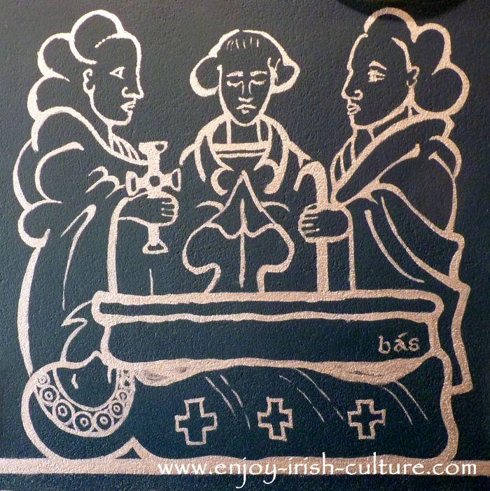Early Christian Irish monks, artist impression.