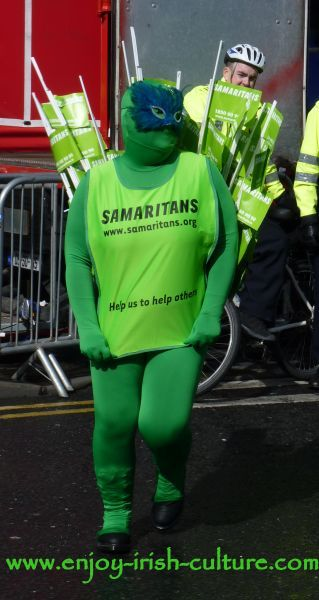Paddy's Day in Galway, Ireland- The  Samaritans