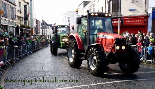 Paddy's Day in Galway, Ireland- tractors.