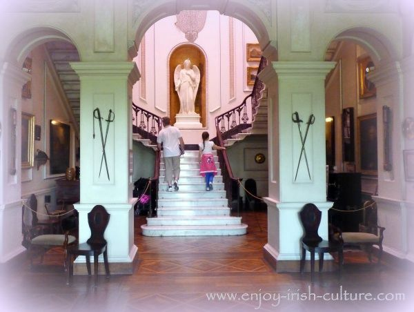 Entrance hall of the Irish big house.